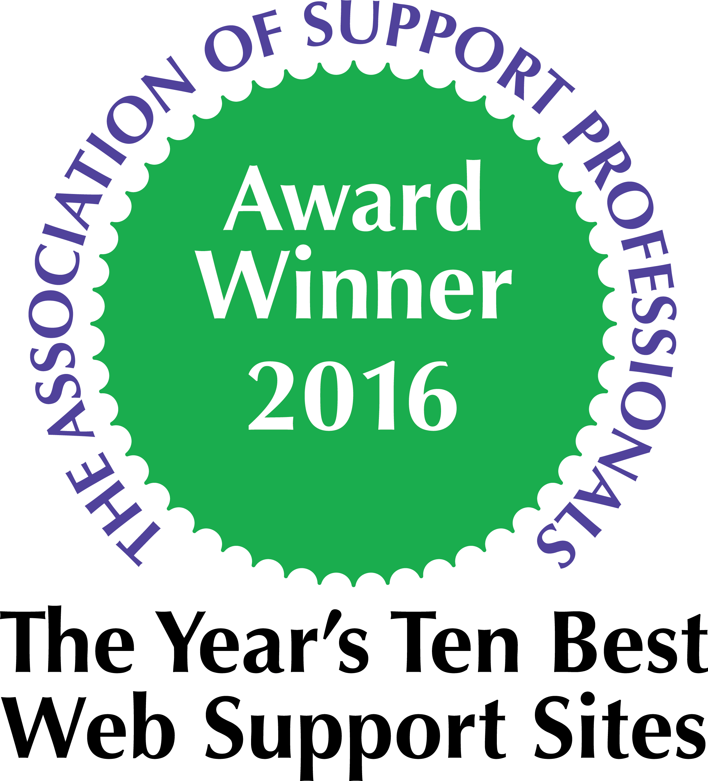 Best Web Support Site Award