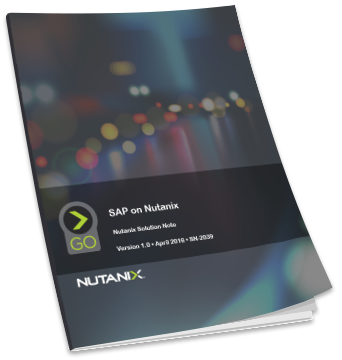 SAP on Nutanix Solution Note